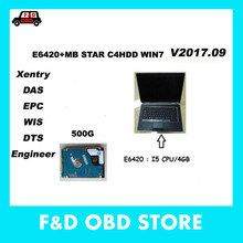 2017 Best Quality Mb Star C4HDD With Win7 V2017.09 Software Xentry Developer Keygen DAS EPC Plus E6420 i5 cpu DHL shipping free