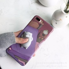3D Cute Squishy Animal Rub Cat Case for iPhone 6 6S 7 7 Plus Funny Poke Phone Cases for iPhone 8 7 7 Plus 6 Plus Coque(China)