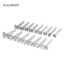 WALFRONT 16pcs Woodworking Hole Saw Cutter Carbide Rotary Drill Bits Boring Edge Cutting Tools 15-35mm Drilling Hinge Knife Set(China)