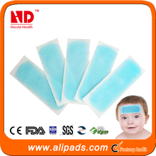 Free shipping Hot Sale Directory Factory Price Reduce Fever Gel Patch Cool Down Fever For Baby(100 pcs)