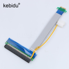Buy Kebidu Power PCI-E Riser 1X 16X Extension Cable Flexible PCI Express Riser Card Extender Adapter Converter Bitcoin Miner for $4.61 in AliExpress store