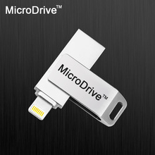 OTG USB Flash Drive 64GB Metal Pendrive High Speed USB Memory Stick 32GB pen Drive 16GB USB Flash U disk For iPhone 7 7 Plus 6 5