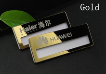 10pcs custom hotel staff name tag 70*25mm laser personalized employee pin reusable name badge with stainless steel plate