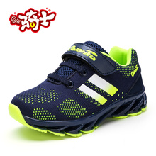 Hot 2017 New Brand Children Sport Shoe Boys Girls Summer Running Sneakers Black Blue Kd Walking Shoes Brand Kids Trainers