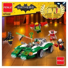 282pcs New Super Heroes Batman Movie 07059 The Riddler Riddle Racer DIY Model Building Kit Blocks Gifts Toy(China)