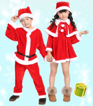 Hot Sale Kids Cosplay Santa Claus Gril Boy Halloween Costume Children Christmas Fancy Party Masquerade Performance