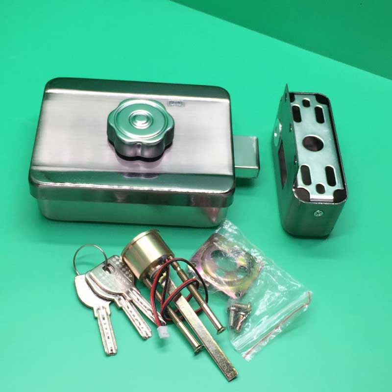 Free Shipping Electric Rim Lock 12VDC Electronic Lock For Access Control Security System<br>