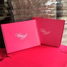 S1-S4, good quanlity red red kraft paper box 9 sizes can be choose, packing clothes box, gift box or mail for you shop.(China)