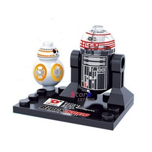Single sale one piece Star Wars superheroes Marvel building blocks baby kids R2D2 BB8 toys action  bricks for children