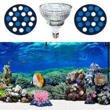 54W LED PAR38 Aquarium Light Coral Reef Blue+ White E27 Aquarium LED Lights for LPS SPS Hard Corals Reef Lighting Aquarium Grow