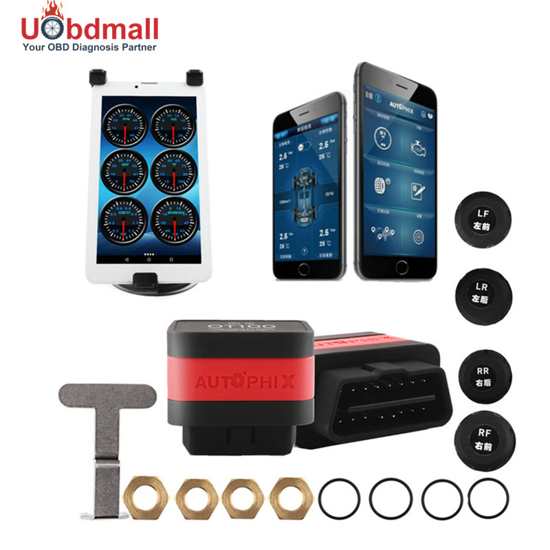 Universal CARAPP OT100 TPMS Car Bar and PSI Tire Pressure Monitoring System Car Tire&amp; Engine OBD Diagnostic-tool 2 in 1<br><br>Aliexpress