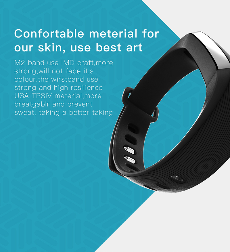 Fitness bracelet Heart Rate Monitor smart bracelet watches blood pressure activity tracker pk for IOS Android mi band 2 fitbit 2