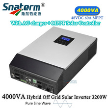 4KVA/3200W Solar PV OFF grid pure sine wave Hybrid Inverter single phase inverter Built-in DC48V60A MPPT Solar charge controller