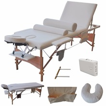 "3 Fold 84""L Portable Facial Bed Massage Table W/Sheet+Cradle Cover+ Bolsters HB79185WH(China)"