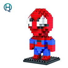 Mini Nano Blocks Super Heroes LOZ Building Spider Man Action Figure Diamond Compatible Legoelieds 9154 - QH mall store