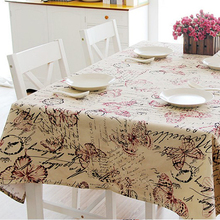 60*60cm 120*120cm 145*220cm 145*200cm Vintage Tablecloth British Style Square Floral Table Cover Decorations Kitchen Accessories(China)