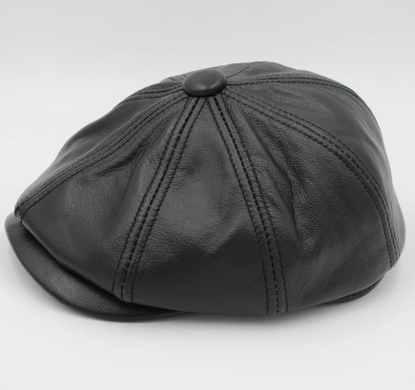 c5d60069219 2019 New Winter Leather Beret Hats For Men Fashion Men s Fashion ...
