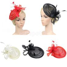 Vintage Feather Fascinator 20s Great Gatsby Charleston Party Side Hat Hair Clip Woman Lady Headdress Hair Accessories