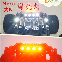 Led super light front lamp head light + taillights light for QL roll cage ARRMA Nero car is not included