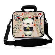 "Cute Baby Panda Model 10""13""14""15""17"" Laptop Sling Neoprene Messenger Satchel Bag Shoulder Cover Case Computer Kits For Intel"