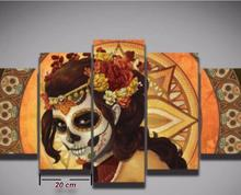 2016 Special Offer Sale Fallout Oil Painting Dh Sugar Skull Picture Canvas Painting Decoration Print Art Wall Living Room Home