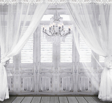 8x8FT Gauze Curtain Grey Wooden Doors Shutters Candles Pendant Lamp Custom Photography Backgrounds Backdrops Studio Vinyl 10x10(China)
