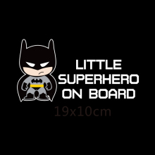 Little Superheroes Baby On Board Car-Styling Reflective Car Stickers/Decals for chevrolet cruze ford focus vw hyundai honda kia(China)