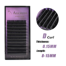 Abonnie lash 1 pc 0.15mm D Curl False Eyelash Extensions Thin and Soft Material 3d 6d Voluming Lashes Tray Lash extension