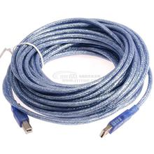 10M 33ft Promotion Blue Color  USB 2.0 Printer Extension Cable AM to BM Male For Printer Scanner Free Shipping