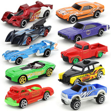 10Pcs Hot Wheels Toy Cars For Kid Boys Metal Car Model Classic Antique Collectible For Sale Hotwheels Collection Miniatures