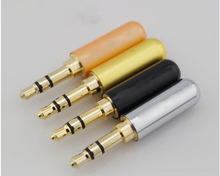 10pcs Gold Plated 3.5mm Male Jack Plug soldering 3 pole plug ( link is out of stock, we have instock ,order link at description)(China)