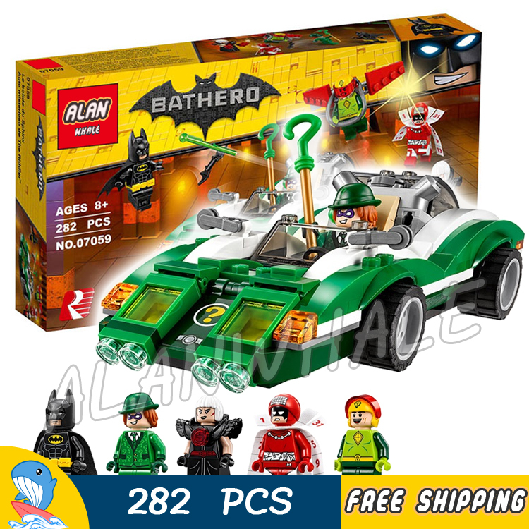 282pcs New Super Heroes Batman Movie 07059 The Riddler Riddle Racer DIY Model Building Kit Blocks Gifts Toy Compatible with Lego<br><br>Aliexpress