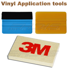 EHDIS Car Winonw Tint Tools Vinyl Wrap Film Tool Kit 3M Felt Gold Wool Squeegee 3D Carbon Fiber Car Cleaning Scraper Brush AT005