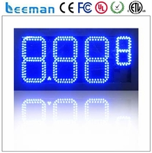 "Leeman 10"" 8.889/10 Green color LED gas price digital sign with 10 inches red color gas station led gas price sign USA"