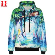 2017 Headbook New Fashion Men/women 3d hooded hoodies funny print Fairy tale world 3d sweatshirts with pocket tracksuirt stops