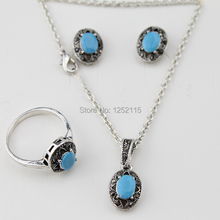 Free shipping New 2014 hot Vintage Jewelry Sets Fashion Costume Jewelry Gift Ideas for Necklace & ring & earrings(China)