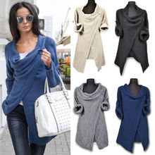 Women Clothes Sweaters Loose Oversized Chunky Knitted Jumper Sweater Batwing Sleeve Tops Cardigan Autumn Clothing