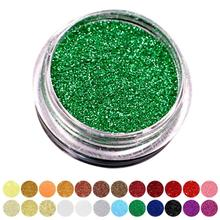 2g Mermaid Green Glitter Red Purple Eye Shadow Powder Pigment Shining Cosmetics Contour Eye Makeup Highlighter 24 Colors A2(China)