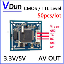 50pcs/lot   ODM/OEM   RS232 / TTL JPEG Digtial Serial Port CCTV Camera  Module SCAW With Video out   VIMICRO VC0706 protocol
