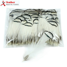 300 pcs/lot black white lady amherst natural pheasant feathers natural fly fishing craft cheap