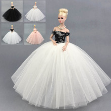 Fashion Doll Dress Costume Elegant Lady Wedding Dress For Barbie Doll Dress Clothes For 1/6 BJD Doll Dresses Gift Toy(China)