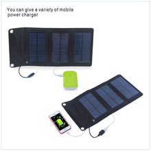 Monocrystalline Folding Solar Panel Usb 5V Output Charger for iPhone, iPad, iPod, Samsung, Camera, and More (Black)(China)