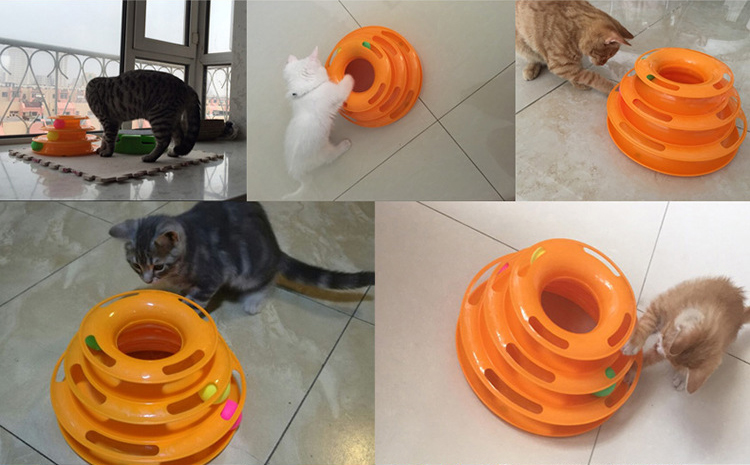 0 Cat Toys Intelligence Triple Play Disc