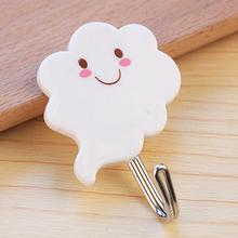 2016 new arrivals 3pcs/set cute clouds design adhesive wall hanging hook for clothes bags hats kitchen tools