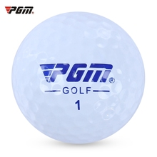 PGM Q001 3pcs Soft Durable High-lift Aerodynamics Practice Golf Ball with Double Layer for Golf Training Golf Sport (White)