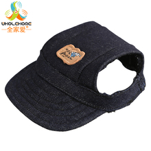 Dog Accessories Pet Dog Hats Solid Black Dogs Sports Sun Hats Pet Supplies Cat Breathable Baseball Dog Caps 1PCS/Lot
