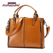 High end Famous Designer Brand Boston Bag Waxed Leather Luxury New Fashion Hot 2017 Women Handbag Ladies Shoulder Bag Girl Purse