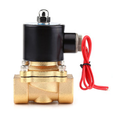 "1 Pcs AC 220V 3/4"" NC Electric Solenoid Valve Zinc Alloy Body for Water Non-corrosive oil Air Gas Profession Valve"