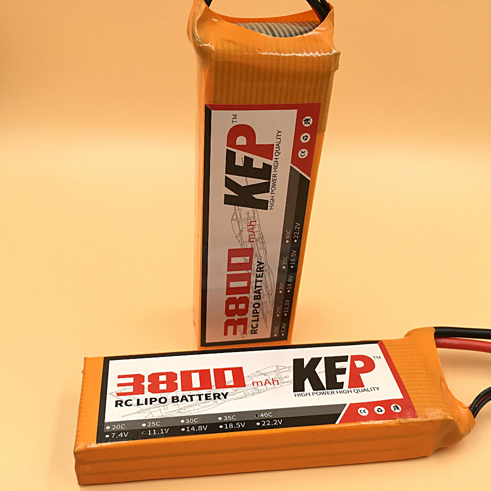 KEP RC Lipo Battery 3S 11.1v 3800mAh 35C RC Aircraft Helicopter Car Boat Quadcopter Airplane Li-Polymer Batteria 3S