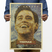 The Truman Show Vintage Kraft Paper Classic Movie Poster Map Home Decor Wall Decal Art Removable Retro Painting(China)